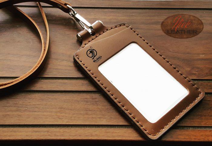 Gantungan ID Card Kulit 016